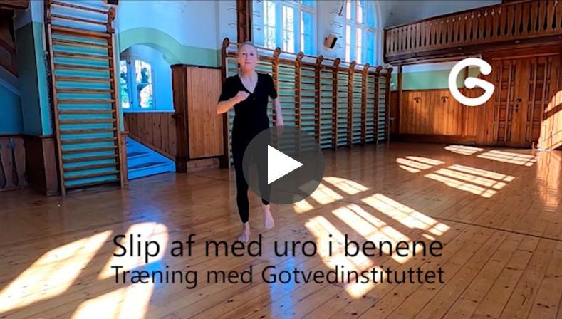 Hjemmetræning med Gotvedinstituttet træning mod uro i benene